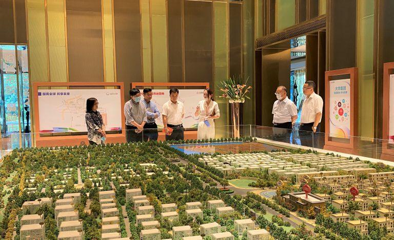 上海市航空学会和大飞机产业园工作推进小组考察大华锦绣东郊产业园